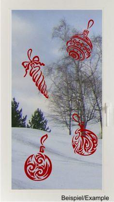 Christbaumschmuck - Fenster-Tattoo Set von DOON Germany auf DaWanda.com