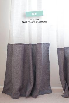 2トーンカラーのカーテン