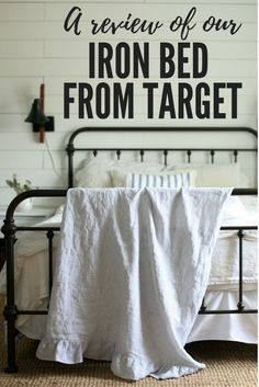 Review of Our Farmhouse Iron Bed From Target