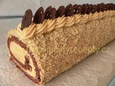 Czech Desserts, Cookie Desserts, Czech Recipes, Russian Recipes, Pie Dessert, Dessert Recipes, Swiss Cake, Polish Recipes, Confectionery