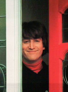 "1965 - John Lennon in Help! film (backstage photo)......WHAT A BEAUTIFUL PICTURE OF ""JOHN."""
