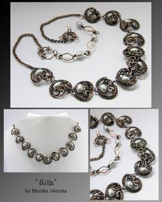 Ailla- wire wrapped necklace by mea00