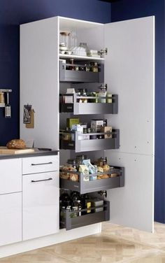 Funky Home Decor You should keep ., 56 Funky Home Decor You should keep ., 44 Clever Kitchen Storage Ideas and Trends for 2019 33 gorgeous kitchen design ideas 13 Kitchen Pantry Design, Diy Kitchen Storage, Modern Kitchen Design, Interior Design Kitchen, Kitchen Cupboard, Bathroom Storage, Kitchen Organization, Organization Ideas, Kitchen Cleaning