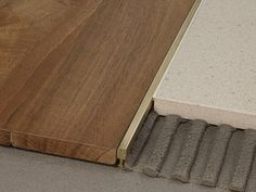 #finishing edges between #flooring materials | Edge profile PROJOINT Cerfix® Collection by PROFILPAS