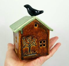Ceramic house pottery house little clay house by MMacKenzieStudio