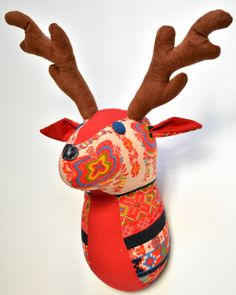 Deer Faux Taxidermy/Deer Trophy Head/ Fabric Animal by penhands