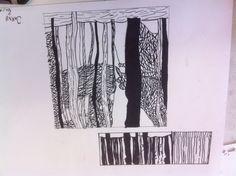 Eindresultaat  Eerst met potlood En daarna met fineliner