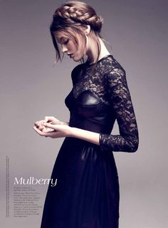 """this is leather and lace i could go for: Montana Cox in """"Brave New Look"""" by Nicole Bentley for Vogue Australia Leather And Lace, Black Leather, Leather Corset, Fashion Fotografie, Looks Dark, Fashion Beauty, High Fashion, Women's Fashion, Fashion Finder"""