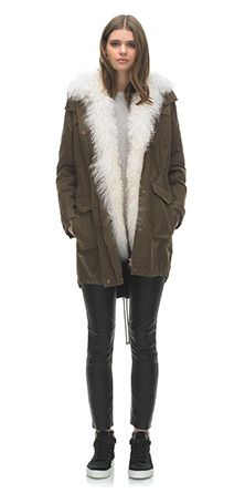 This sheepskin lined parka would be lovely for you, for me or for the teenage girl in your life - Whistles
