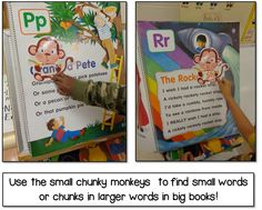 Chunky Monkey decoding reading strategy in action: pack includes PPT presentation to introduce strategy, center, printables, chunky monkey word finders, and more!