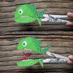 Sniðugir gráðugir fiskar