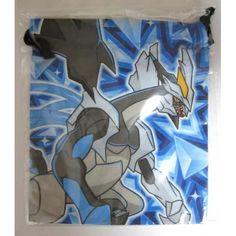 Pokemon Center 2012 Black White Overdrive Kyurem Medium Size Drawstring Dice Bag