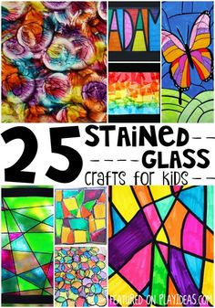 Faux Stained Glass Suncatcher Craft For Kids Crafts For Kids