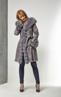 Veste 3/4 en lapin et renard - Collection AH15  #chic #fashion #fur #glamour