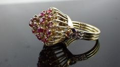 Huge Antique Ruby 14kt Yellow Gold Cocktail by My3LadiesJewelry, $699.99