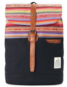 Canvas retro backpack rucksack batohy plecak mochila reppu laukku 41*30*16cm - TMACHE