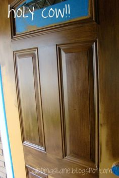 43 Trendy Ideas For Fake Wood Paneling Makeover Diy Projects Wood Front Doors, Painted Front Doors, Garage Doors, Entry Doors, Painting Metal Doors, Painting Fiberglass Door, Faux Wood Paint, Wood Stain, Stained Front Door