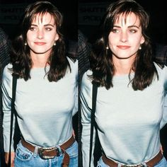 Skinny young beautiful Courtney cox
