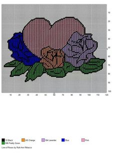 LOVE OF ROSES by RUTH ANN RITTACCO - WALL HANGING
