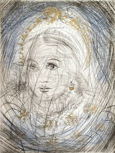 Stunning The Night of Walpurgis Faust Goethe Series Portrait of Marguerite From a