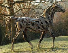 Driftwood horse. So beautiful!
