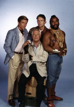 George Peppard Pictures and Photos Dirk Benedict as Templeton 'Faceman' Peck George Peppard as John 'Hannibal' Smith Dwight Schultz as 'Howling Mad' Murdock Mr T as BA Baracus Photo by. Spy Shows, 80 Tv Shows, George Peppard, The Ateam, Dwight Schultz, Mejores Series Tv, Mr T, Hard Men, Scarlett O'hara
