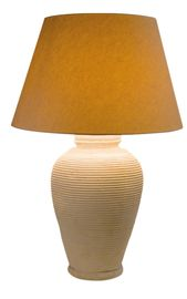 The Rope Lamp - Rustic / Folk, Traditional Natural Material Table by Soane Britain