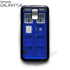 Blue Tardis Dr Doctor Who Samsung Galaxy S5 Case Cover
