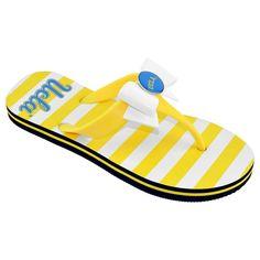 Women's College Edition Ucla Bruins Bow Flip-Flops, Size: Medium, Yellow