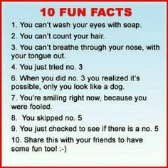 funny joke about 10 fun facts