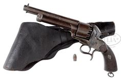Confederate LeMat Revolver SN 88, ID'd to General John Lawson Lewis, with Original Holster