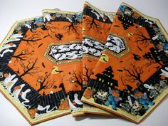 Table Runner Extra Long Quilted Haunted Halloween by SallyManke, $49.00