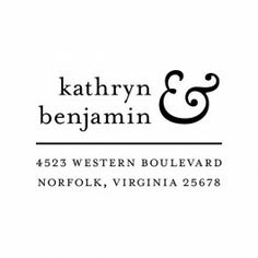 Modern Ampersand Square Custom Snap Stamp