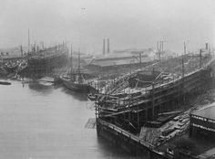 The Thames Ironworks & Shipbuilding Company, Limited was a shipyard & iron works straddling the mouth of Bow Creek at its confluence with the River Thames, at Leamouth (often referred to as Blackwall) on the west side & at Canning Town on the east side Victorian London, Vintage London, Old London, South London, London Life, Newham, Isle Of Dogs, London History, White Horses
