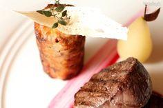 Medailóniky z daniela s gaštanovým nákypom na Portito omáčke Steak, Food, Essen, Steaks, Meals, Yemek, Eten