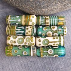 Mix 'n Match tubes in teal Pick your fav by magdalenaruiz on Etsy, $8.00