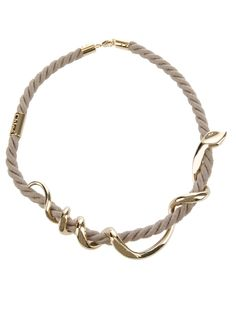 Chloé snake rope necklace
