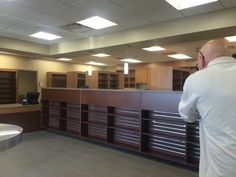 Last shot of the day, the pharmacy at the new West Omaha CHI Health Clinic.