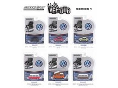 Greenlight Vee Dub Series 1, 6pc Diecast Car Set 1/64 Diecast Model Car by Greenlight - Brand new 1:64 scale diecast model car of Greenlight Vee Dub Series 1, 6pc Diecast Car Set by Greenlight. Limited Edition. Brand New Box. Has Rubber Tires. Detailed Interior, Exterior. Officially Licensed Product. Each Model is Packed in Individual Blister Pack. Might come with a chase car instead of one of the cars in a set, but it is not guaranteed. Dimensions of Each Car is Approximately L-2 1/2 Inches…