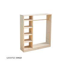Para nuestra línea de mobiliario infantil utilizamos materiales respetuosos con el medio ambiente y con la salud de los niños:  - Madera natural de abeto  - Tornillos de Zinq y Niquel  - Acabado en barniz al agua Satinado (Opcional)  - Producto artesanal  ................................  Características:  - 100x90x25 (Alto-ancho-profundo)  - Diseño compacto y resistente   - Baldas laterales  ................................  Barniz:       · Incoloro       · COV ( Compuestos Orgánicos…
