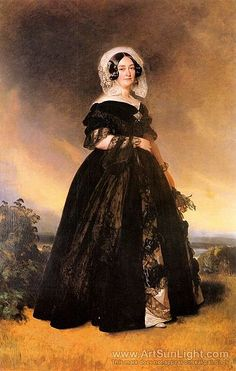 "Wife of the Edward Duke of Kent the 4th son of the ""mad"" King George III, Mother of Queen Alexandrina Victoria, sister of Leopold I (Leopold Georg Christian Friedrich ) (1790-1865) King of the Belgians. Victoria of Saxe-Coburg-Saalfeld, Duchess of Kent (1786-1861)."