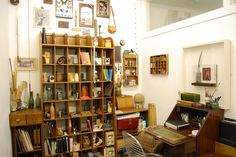 what do you think? Photo Displays, Art Studios, Bookcase, Gallery Wall, Shelves, Crafty, Places, Rooms, Diy