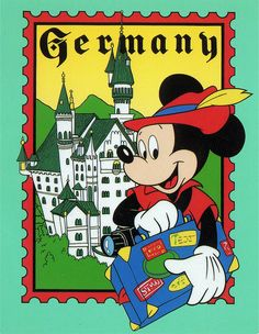 Mickey in Germany postcard by starberryshyne, via Flickr