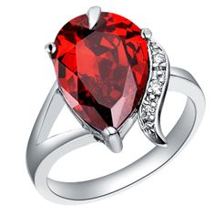 Ruby Rings Crystal Rings Online Oval Rings by UloveFashionJewelry, $9.18