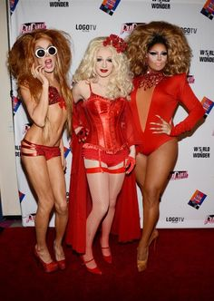 RPDR Season 5's Top Three, and who looks the hottest?  JINKX, of course!!