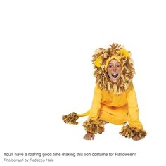 Easy no sew kids lion halloween costume pinterest halloween 35 diy halloween hoodie costumes one crafty place solutioingenieria Image collections