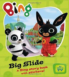 TV Tie-In Bing: 'Big Slide' story and sticker book Bing Bunny, Parent Club, Movie Tickets, Saint George, Try Something New, Story Time, Fundraising, Childrens Books, Pikachu