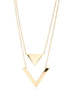 Triangle and arrow layered necklace