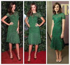 Knee-Length Ball Gown Formal Dresses for Women Green Cocktail Dress, Green Lace Dresses, Formal Dresses For Women, Miranda Kerr, Ball Gowns, Cocktails, Prom Dresses, Elegant, Wedding