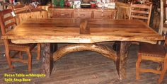 Pecan handmade rustic table